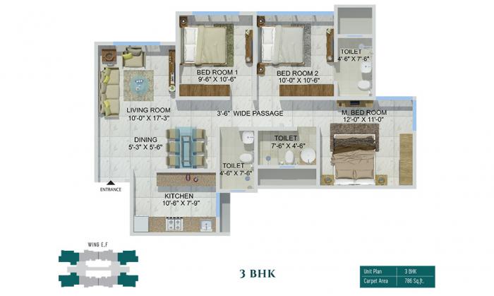 Sheth Zuri, Thane - Floor Plan