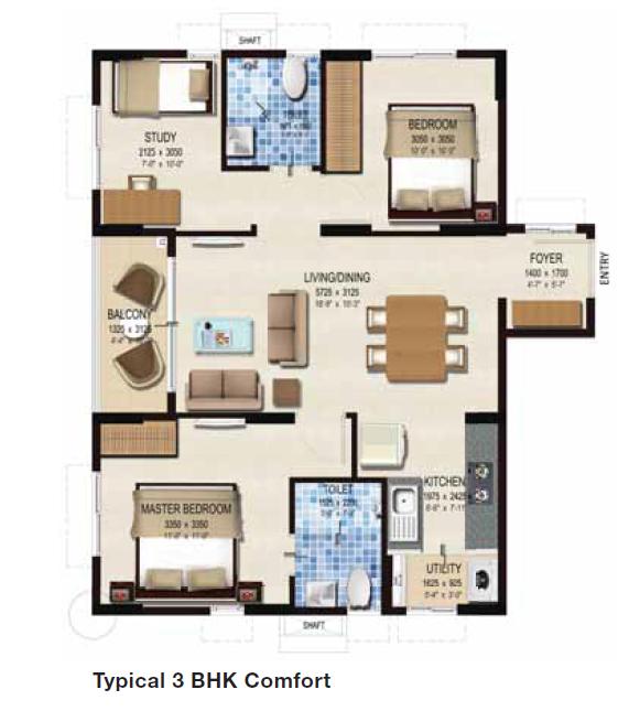 Provident Kenworth, Hyderabad - Floor Plan