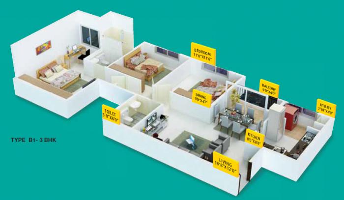 Provident Skyworth, Mangalore - Floor Plan