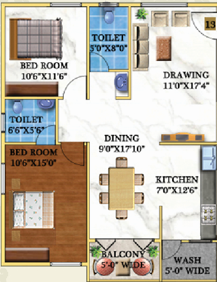 Garuda Royal Homes, Bangalore - Floor Plan