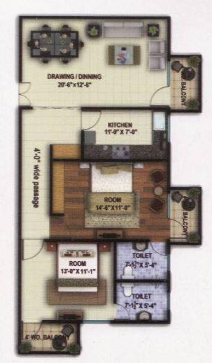 Sukriti Sai Abhishek Residency, Lucknow - Floor Plan