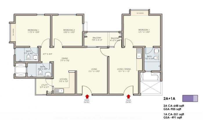 DivyaSree Republic Of Whitefield, Bangalore - Floor Plan