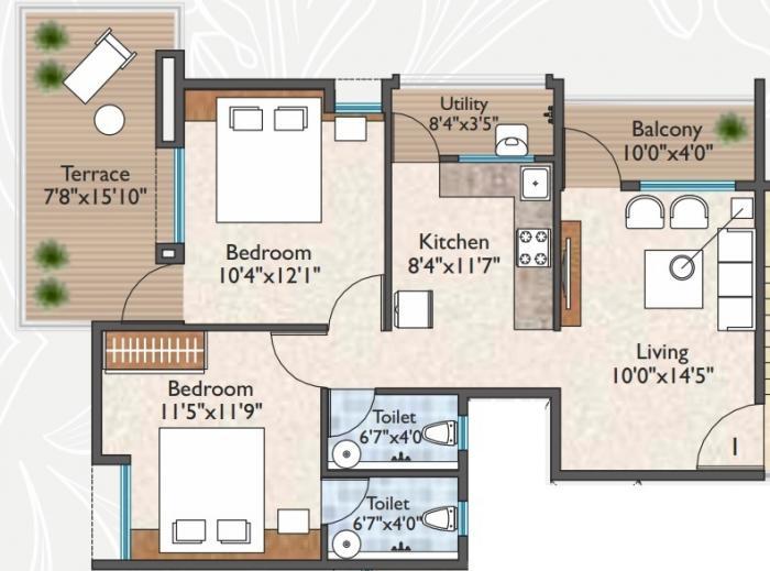 Liberty Niwas, Nashik - Floor Plan