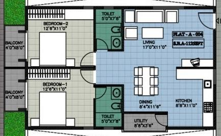 Peony Sai Aastha, Bangalore - Floor Plan