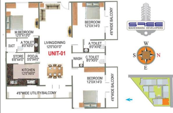 Sree Narida, Bangalore - Floor Plan
