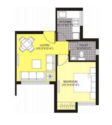 Unitech Unihomes Phase I, Noida - Floor Plan
