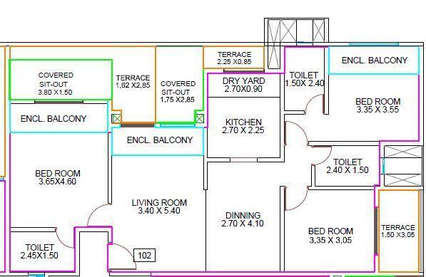 Amit Ved Vihar Phase 2, Pune - Floor Plan