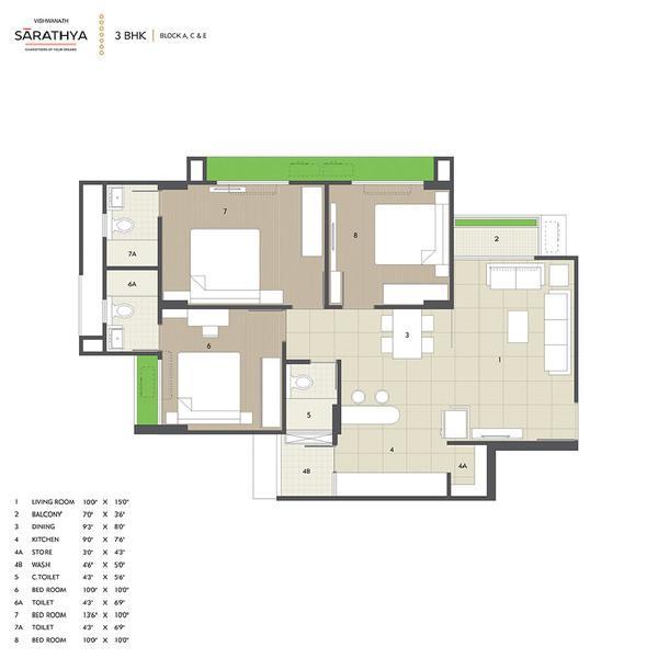 Vishwanath Sarathya, Ahmedabad - Floor Plan