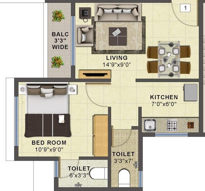 Choice Ambe Smruti, NaviMumbai - Floor Plan