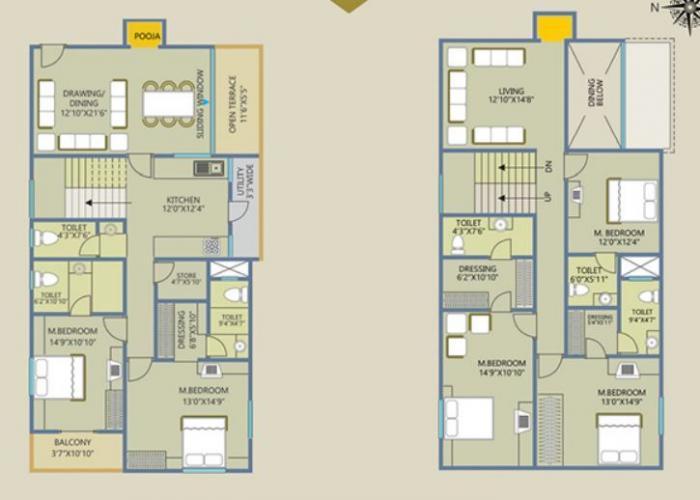 Lahoti Venkateshwara Greens, Latur - Floor Plan