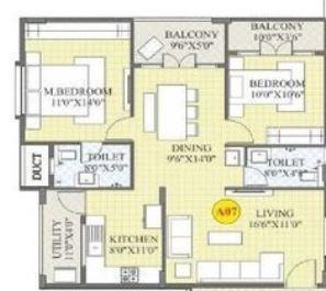 BM Magnolia Park, Bangalore - Floor Plan
