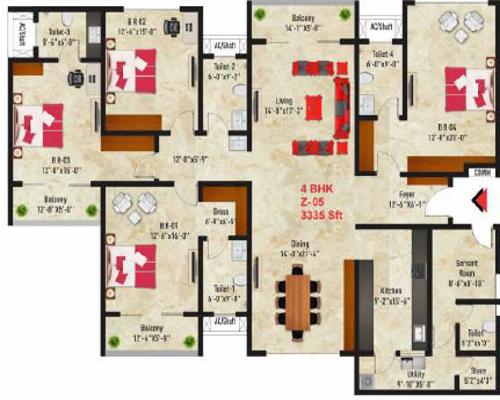 SNN Raj Spiritua, Bangalore - Floor Plan