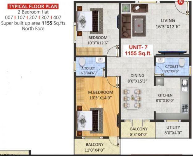 SV Luxuria, Bangalore - Floor Plan