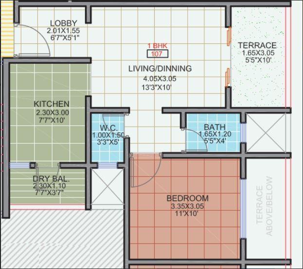 Size Masters Dewdrop, Pune - Floor Plan