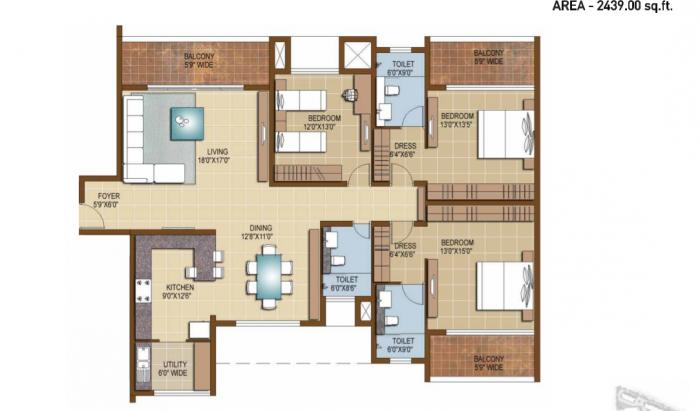 Sterling Infinia, Bangalore - Floor Plan