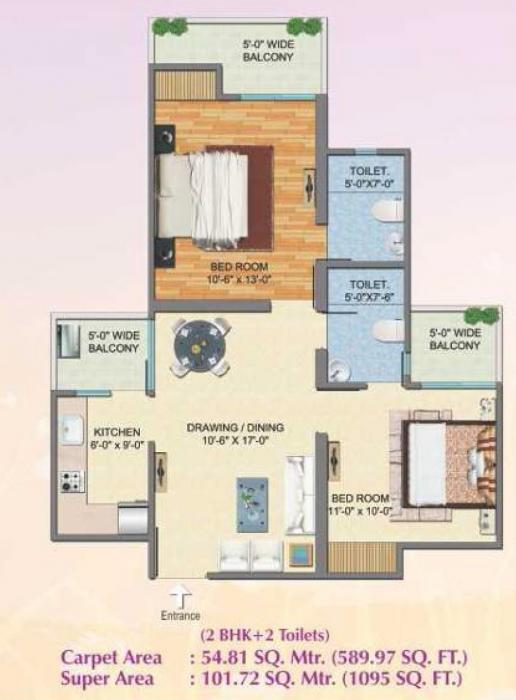 Savfab Jasmine Grove, Ghaziabad - Floor Plan