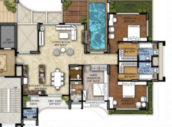 Skywards Riviera Valentina, Pune - Floor Plan