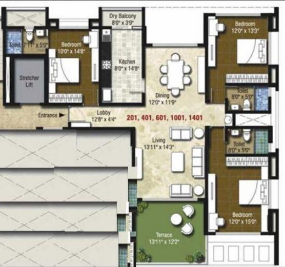 Beharay Rathi Hillview Residency, Pune - Floor Plan