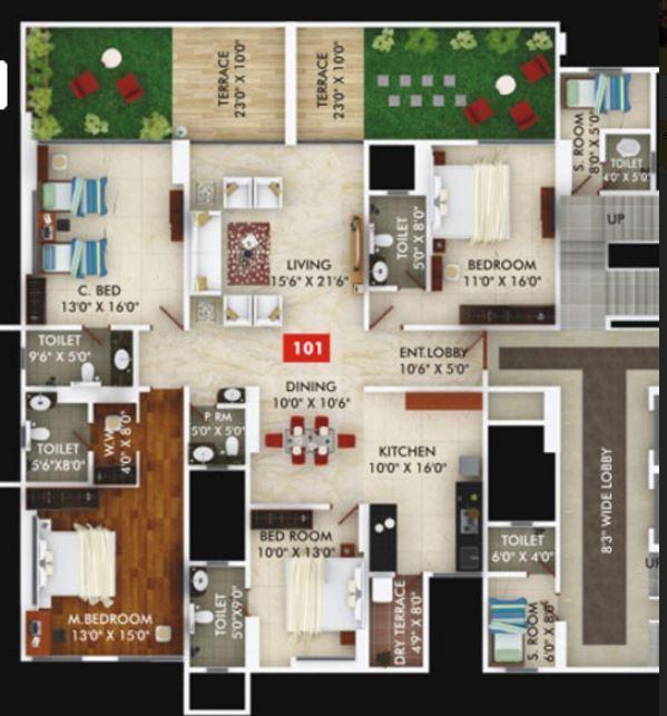 Gagan Unnati, Pune - Floor Plan