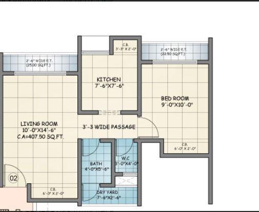 Squarefeet Ace Square Phase 1, Thane - Floor Plan