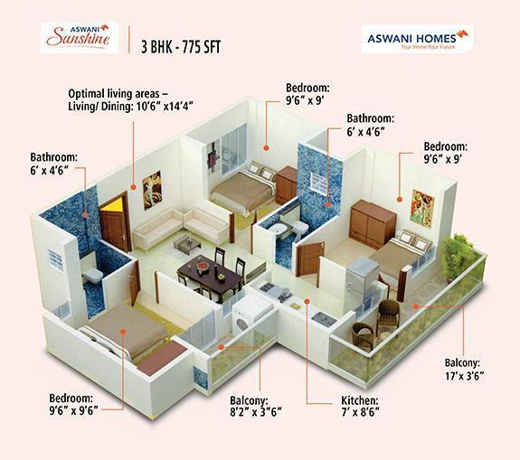 Aswani Sunshine, Bangalore - Floor Plan