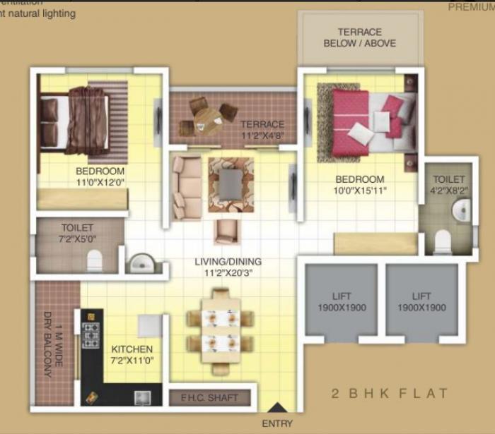 KUL Nation , Pune - Floor Plan