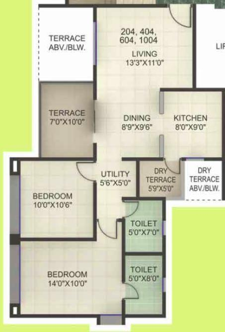 Kumar Princeville, Pune - Floor Plan