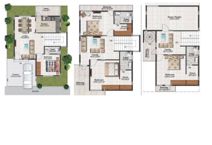 The Manya Magna Ville, Bangalore - Floor Plan