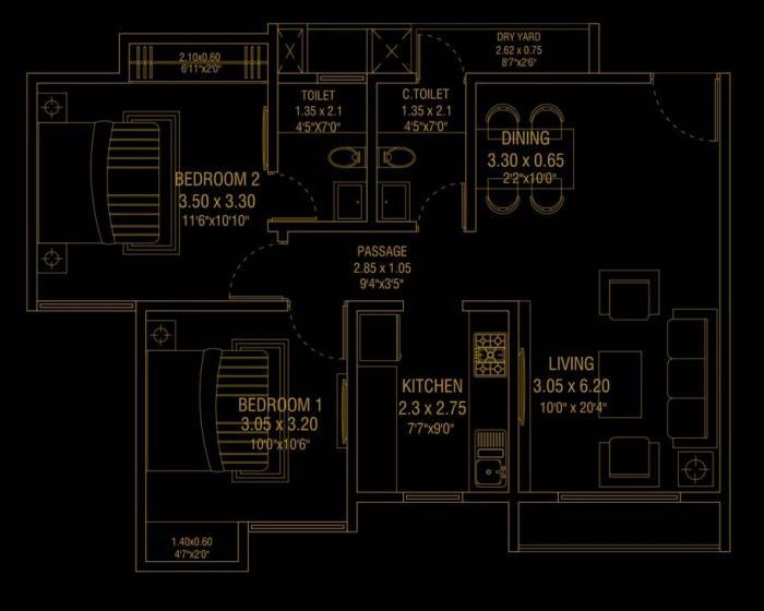 Lakhani Empire Tower, Thane - Floor Plan