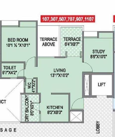 Choice Goodwill Nirmiti, Pune - Floor Plan