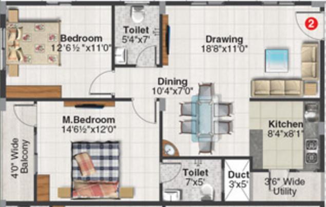 Soorya Serenity, Bangalore - Floor Plan