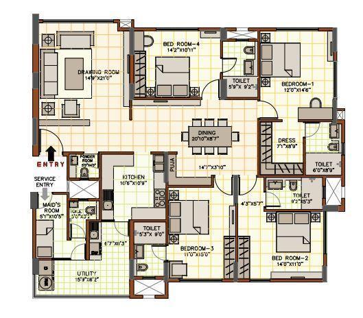 August Grand, Bangalore - Floor Plan