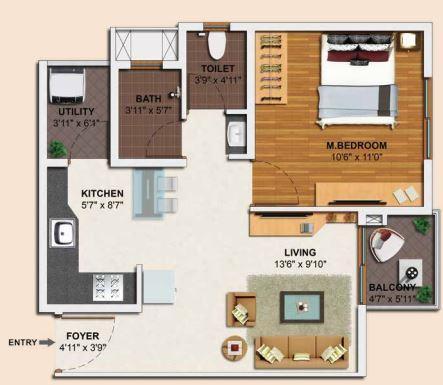 Skylark Royaume, Bangalore - Floor Plan