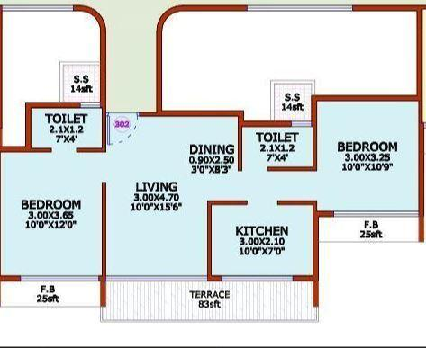Pillars Regency, NaviMumbai - Floor Plan