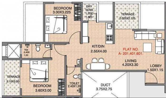 JJ The Nest, Pune - Floor Plan
