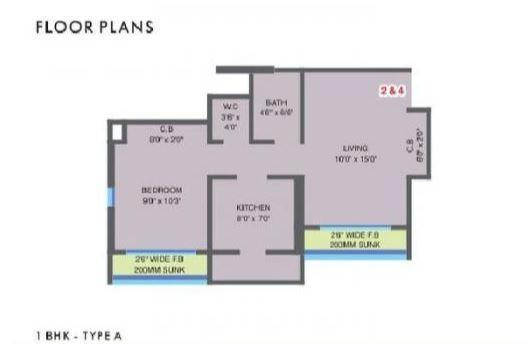 MM Valley Premium, Thane - Floor Plan