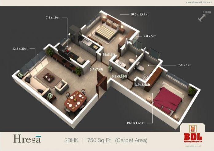 BDL Hresa, Mumbai - Floor Plan