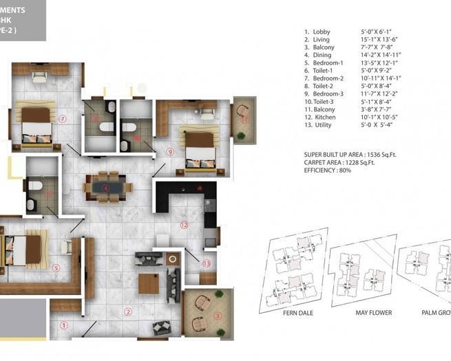 ARATT Cityscapes Apartment, Bangalore - Floor Plan