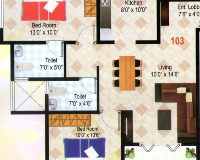 Mak Shades View Phase 2, Pune - Floor Plan