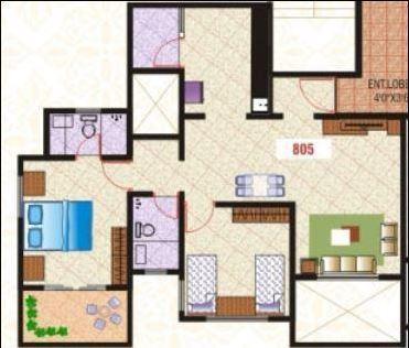 NSG The Royal Mirage, Pune - Floor Plan