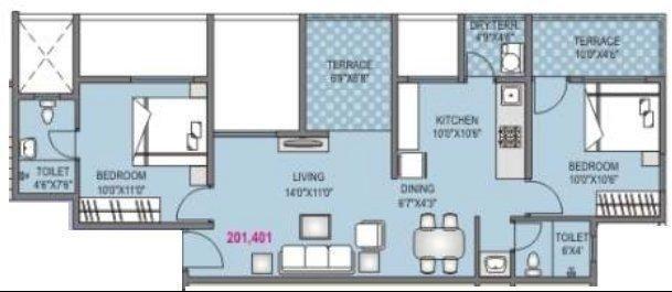 Nisarg Meadows, Pune - Floor Plan