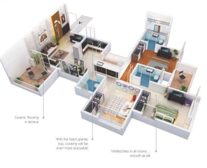 Paramount Altissimo, Pune - Floor Plan