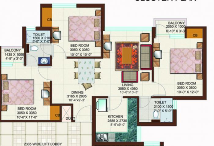 Ansals Tanushree, Ghaziabad - Floor Plan