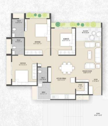 Sangani Shaligram Lakeview, Ahmedabad - Floor Plan