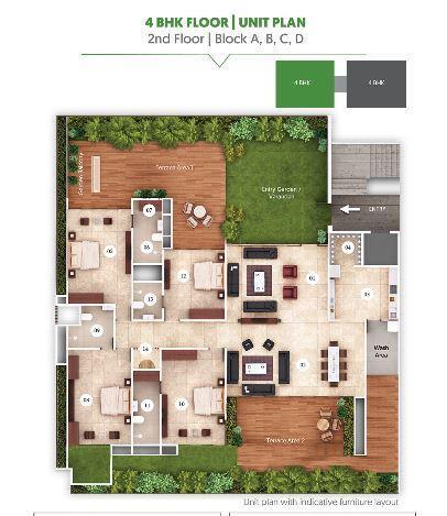 Ganesh Maple Tree, Ahmedabad - Floor Plan