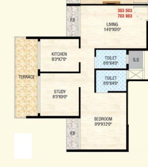 RSM Athena, NaviMumbai - Floor Plan