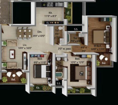 Today Global Euphoria, NaviMumbai - Floor Plan