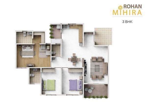 Rohan Mihira Apartment, Bangalore - Floor Plan
