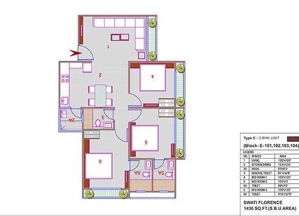 Swati Florence, Ahmedabad - Floor Plan