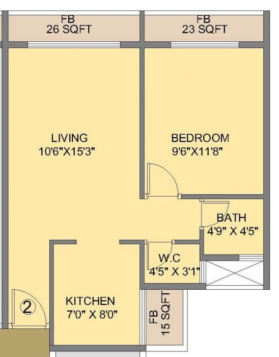 Mahaavir Majesty, NaviMumbai - Floor Plan